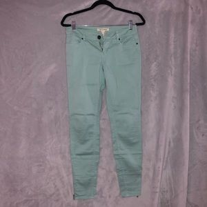 Turquoise jeans/trousers